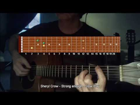 How to play Riff - Sheryl Crow - Strong enough