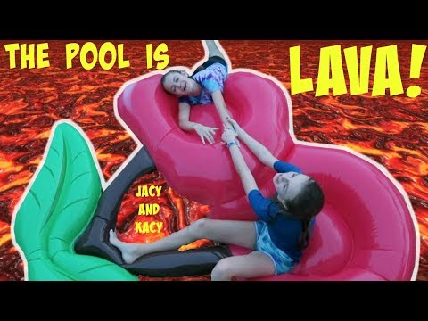 Thumbnail: THE POOL IS LAVA CHALLENGE ~ Jacy and Kacy