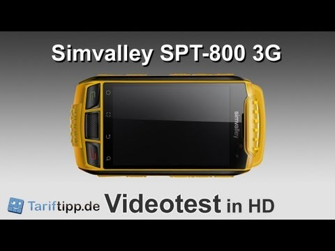 Simvalley SPT-800 3G | Handytest in HD (deutsch)