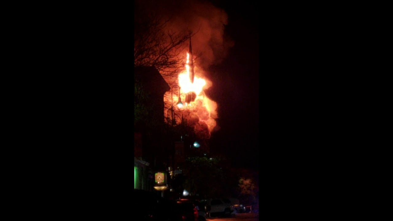 Fire Consumes First Baptist Church In Wakefield