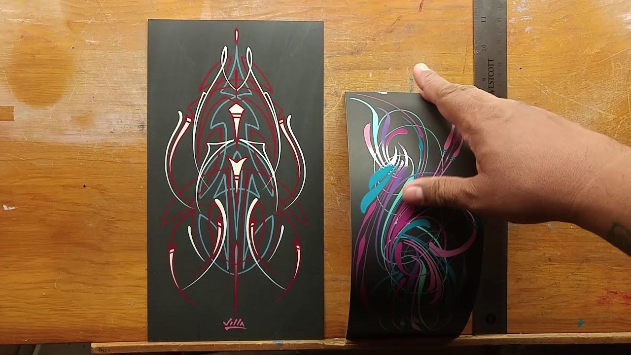 Free Pinstriping Art Giveaway Youtube
