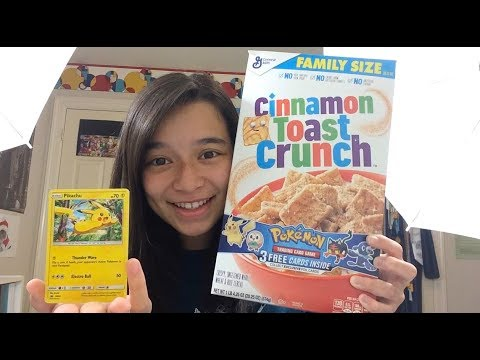 LET'S JUST SAY I'M VERY HAPPY - Pokemon Cards in my Cereal!