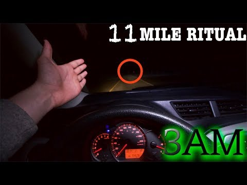 (GONE WRONG) BREAKING THE RULES OF THE 11 MILE RITUAL AT 3AM CHALLENGE! (The Road Doesn't End)