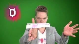 Geldschein schweben lassen - Zaubertricks mit Auflösung Erklärung zum Nachmachen lernen