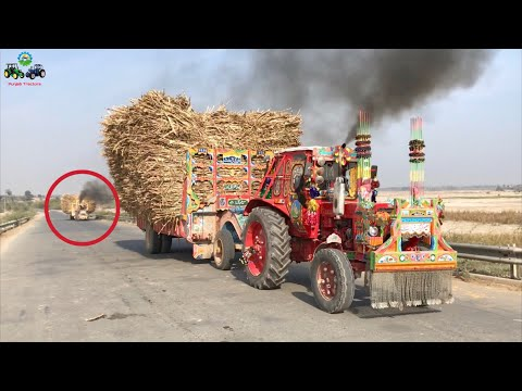 Belarus 510 | Heavy loaded Trolley Power Test in High Gear | Punjab Tractors