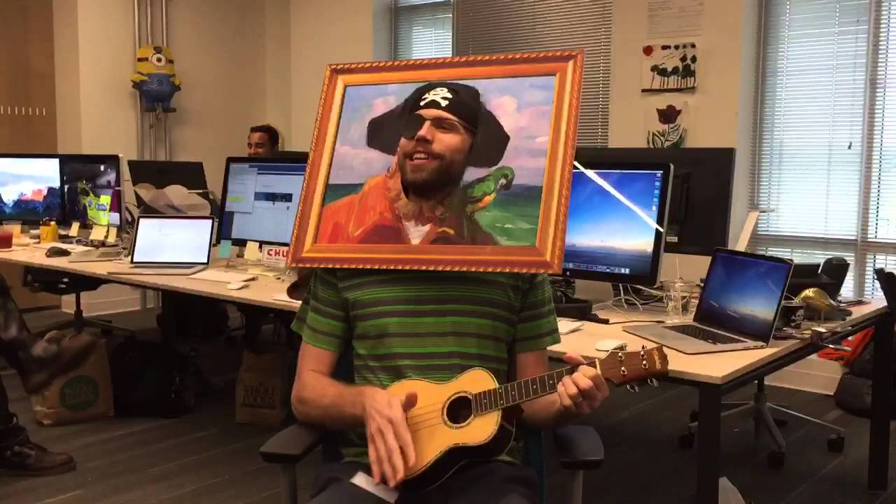 Spongebob Theme Song As Painty The Pirate On Ukulele Youtube