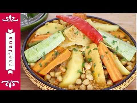 Moroccan Seven Vegetable Vegan Couscous