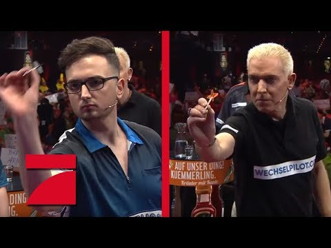 MarcelScorpion & Martin Schindler vs. H.P. Baxxter & Raymond van Barneveld | Promi Darts WM