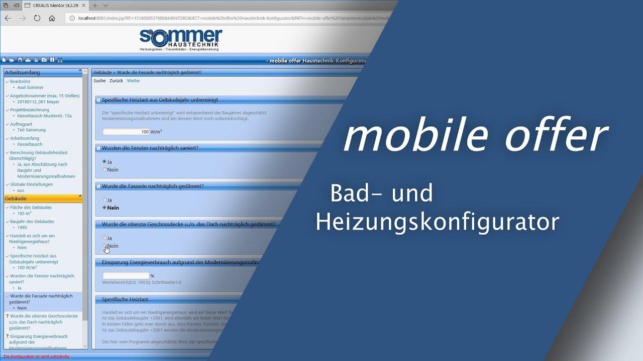 Mobile Offer Der Bad Und Heizungskonfigurator Shk Angebote