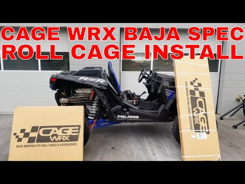 2018 POLARIS RZR XP TURBO S CAGE WRX BAJA SPEC INSTALL
