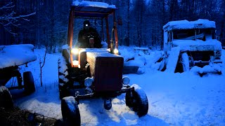 Tractor T 25 Cold Start 5C Degrees (1080p)