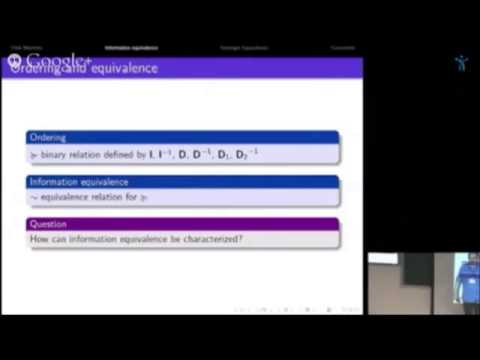"""Olivier Gossner , """"The Value of Information in Zero-Sum Games"""" (joint with Jean-François Mertens)"""