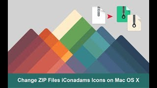 Change ZIP File iConadams Icons on Mac OS X