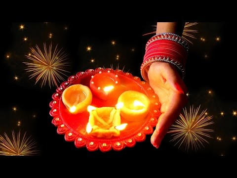 How To Make Diya With Flour ( Aata ) at Home By Jyoti Sachdeva .