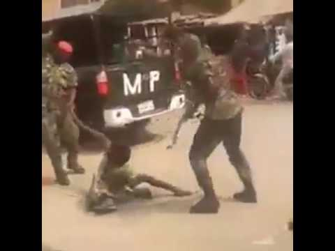 Nigeria Army Brutalizes cripple man because he was on military camouflage