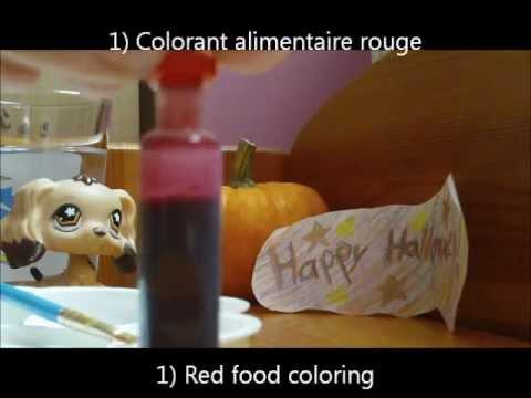 Tutoriel comment faire du faux sang tutorial how to make fake blood english subtitles - Fabriquer du faux sang ...