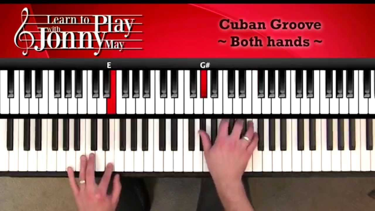 Latin Jazz Piano - Cuban Groove Lesson Demo from