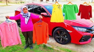 Ayşe's New Clothes & And Magical Car With & Crushing Crunchy & Soft Things by Car! - Funy Video