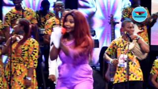 Nana Ama Mcbrown performs with SP Kofi Sarpong