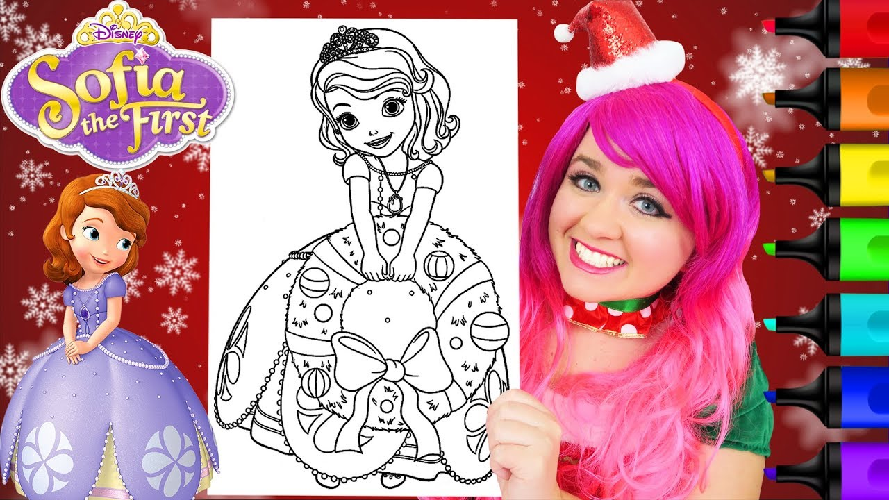 Coloring Christmas Sofia The First Coloring Page Prismacolor Markers