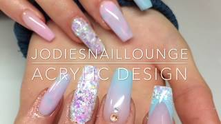 Acrylic Nails | acrylic design | pastel  colours