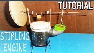 stirling engine homemade tutorial