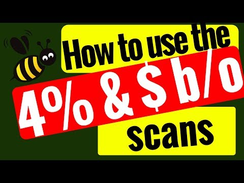 How to use the 4% and  the $ breakout scans