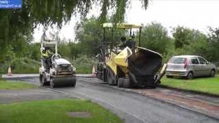 (HD) Road resurfacing Eurovia & Jet Plant Hire 13/06/13