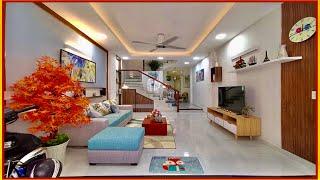 Bán nhà Gò Vấp( 193 )4.5m x 15m Nhà 3 lầu thiết kế hiện đại tuyệt đẹp Hẻm 8m kinh doanh buôn bán