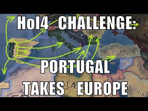Hearts of Iron 4 Challenge: Portugal annexes Europe and more