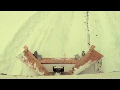 Wooden snow plow Colorado January 12, 2019