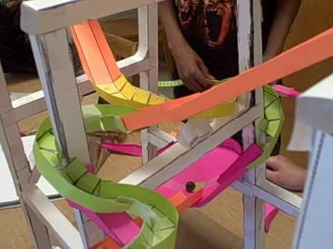 Sunfish 1st Core Paper Roller Coasters - YouTube - paper roler