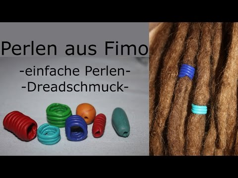 einfache perlen aus fimo auch f r dreads youtube. Black Bedroom Furniture Sets. Home Design Ideas