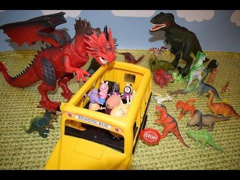 Bajka Świnka Peppa po polsku. Żywe potwory na wycieczce w parku dinozaurów!!!