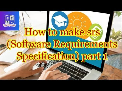 How to make srs in urdu / hindi  ( Software Requirements Specification) part 1