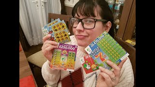 Scratching UK Scratchcards .. Will I win ? Watch and find out ;) national lottery scratchcards