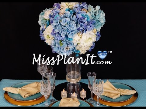 Royal Blue Centerpiece / DIY / How to Create this Blue Royalty Wedding Centerpiece!
