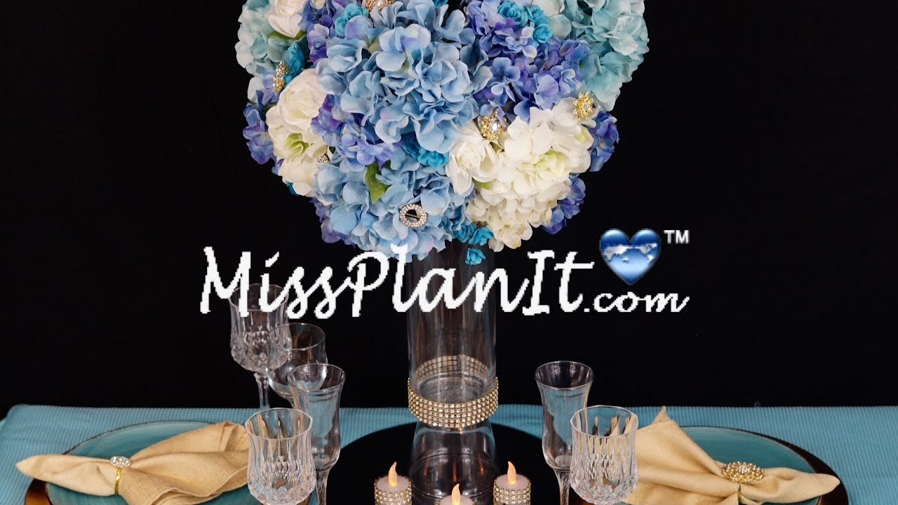Royal Blue Centerpiece / DIY / How to Create this Blue Royalty ...