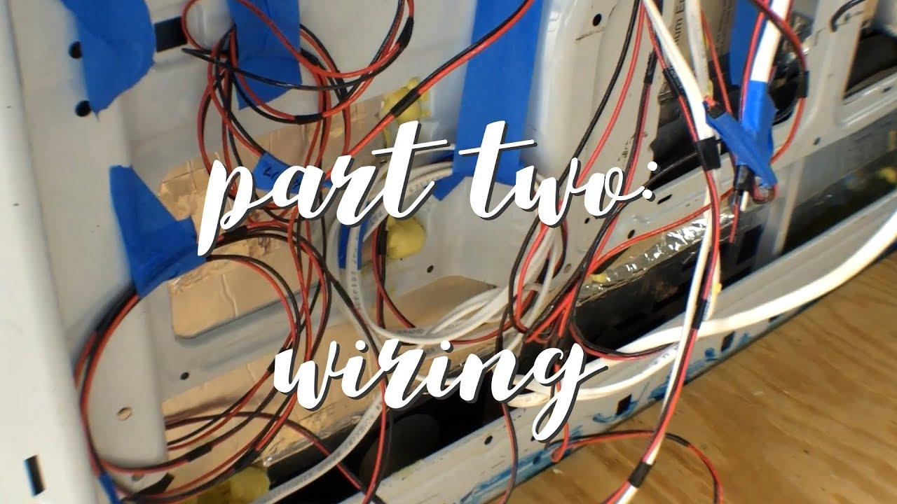 ford transit camper van conversion pt 2 wiring  [ 1280 x 720 Pixel ]