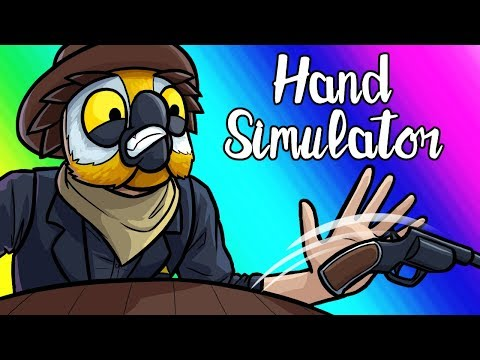 Hand Simulator Funny Moments - Wild West Revolver Duels!