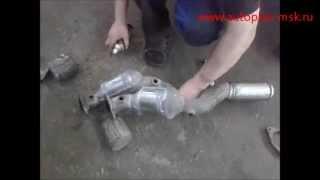 Ремонт и замена катализаторов Porsche Cayenne 3.2 на пламегасители