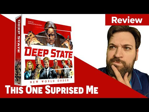 🔴 Deep State: New World Order Board Game Review - This One Suprised Me!