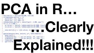StatQuest: PCA In R