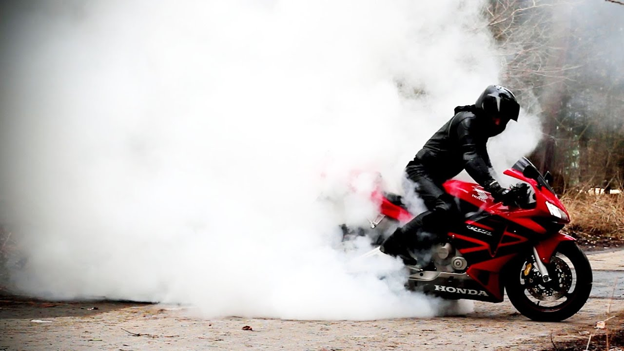 Stunt Wallpaper Hd Honda Cbr 600 Rr Burnout Slow Motion 1080p Gopro Hero