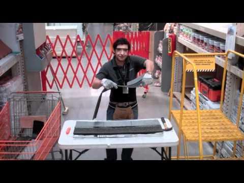 Como instalar teja en home depot