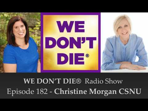 Christine Morgan Talks to Sandra Champlain on We Don't Die Radio