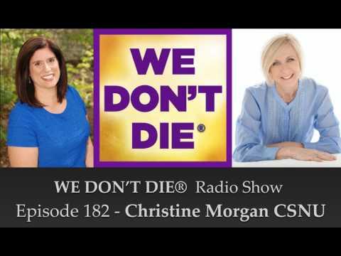 Christine Morgan Talks to Sandra Champlain on We Don't Die Radio