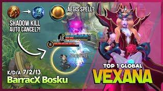 Sanguine Rose Mid Lane? No More Flicker! BarracX Bosku Top 1 Global Vexana ~ Mobile Legends