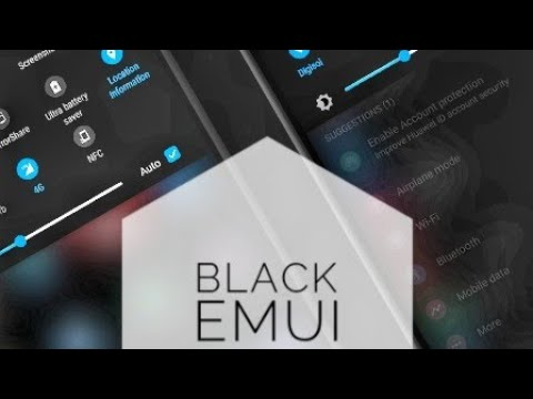 Чёрная тема на хуавей хонор Huawei Honor  самая красивая и функциональная тема на EMUI андроид 9