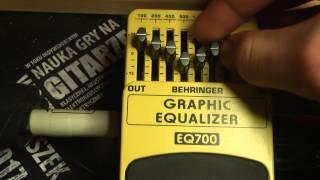 EQ700 EQ 700 Graphic Equalizer Behringer guitar effect efekt giatrowy Clean, test review - RockDay